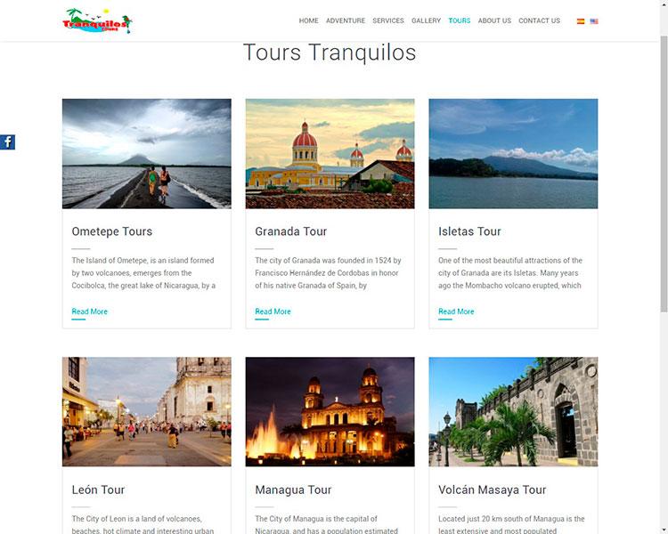 Diseño tranquilos tours turismo Nicaraguense