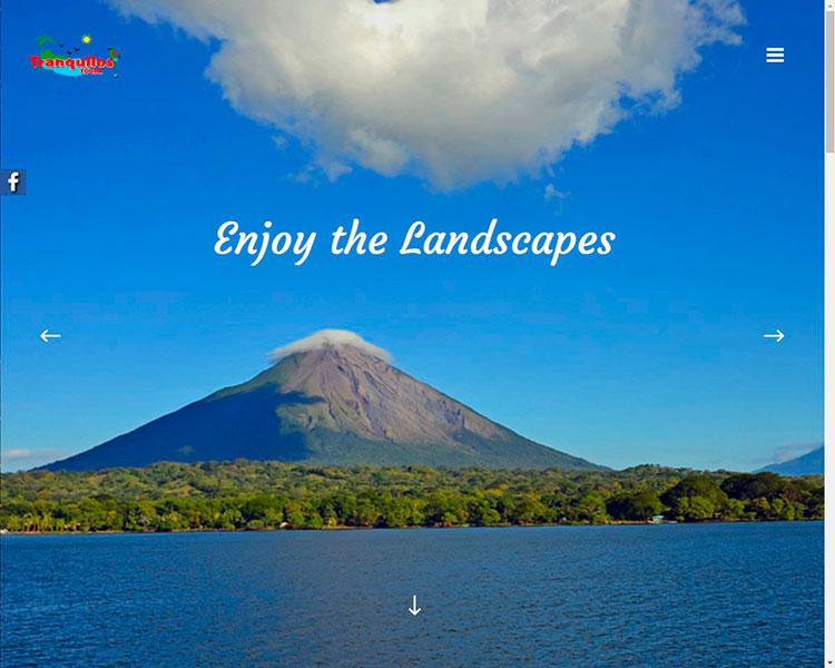 Sitio Web Tranquilos Tours Nicaragua